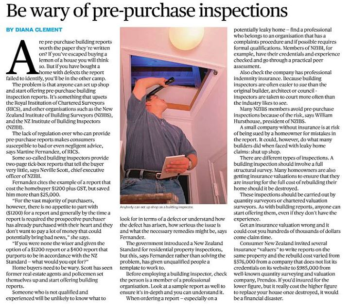 Herald Homes on building inspections
